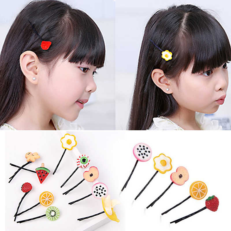 Hot Sale 1Pc Girl Kids Children Cartoon Fruit Hair Clip Sweet Lovely Barrettes Hairpin Hair Accessories