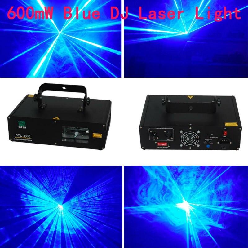 Nouveau projecteur Laser bleu 600 mw 450nm DJ Disco Bar éclairage de la maison