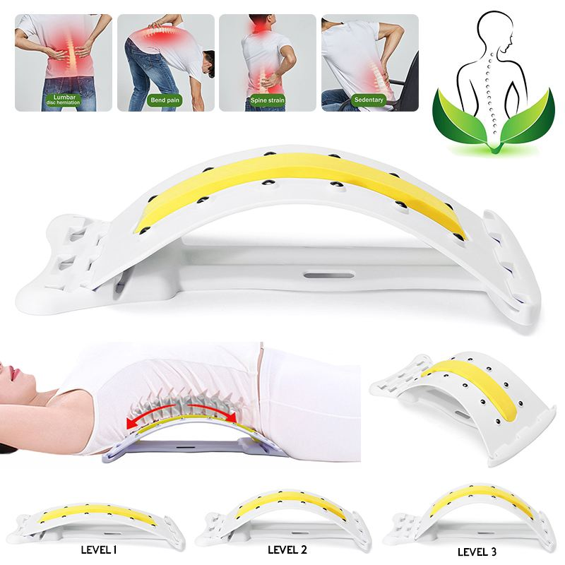 Back Magic Massager Stretcher Stretching Magic Lumbar Waist Back Support Neck Relax Device Chiropractor Massager Pain RelieveBack Magic Massager Stretcher Stretching Magic Lumbar Waist Back Support Neck Relax Device Chiropractor Massager Pain Relieve