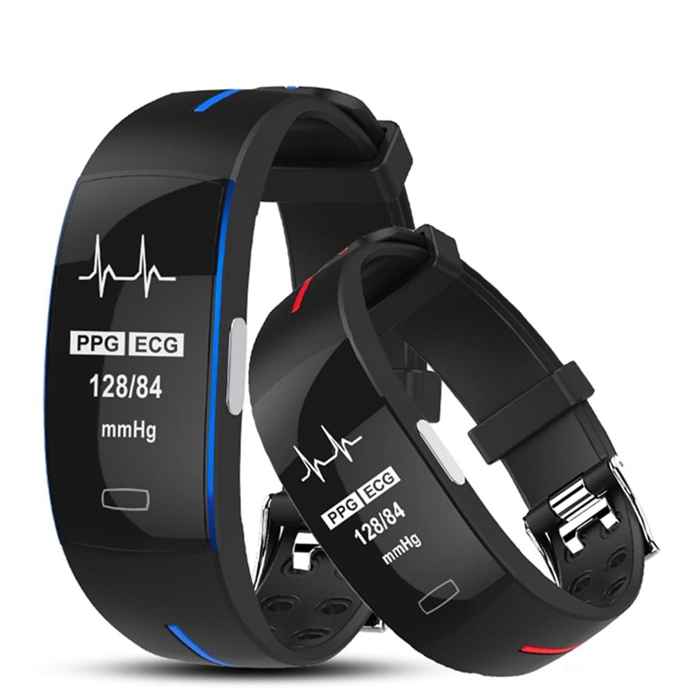 Bakeey P3 PLUS Smart Bracelet ECG PPG Heart Rate Blood Pressure Monitor Smart Watch IP67 Waterproof
