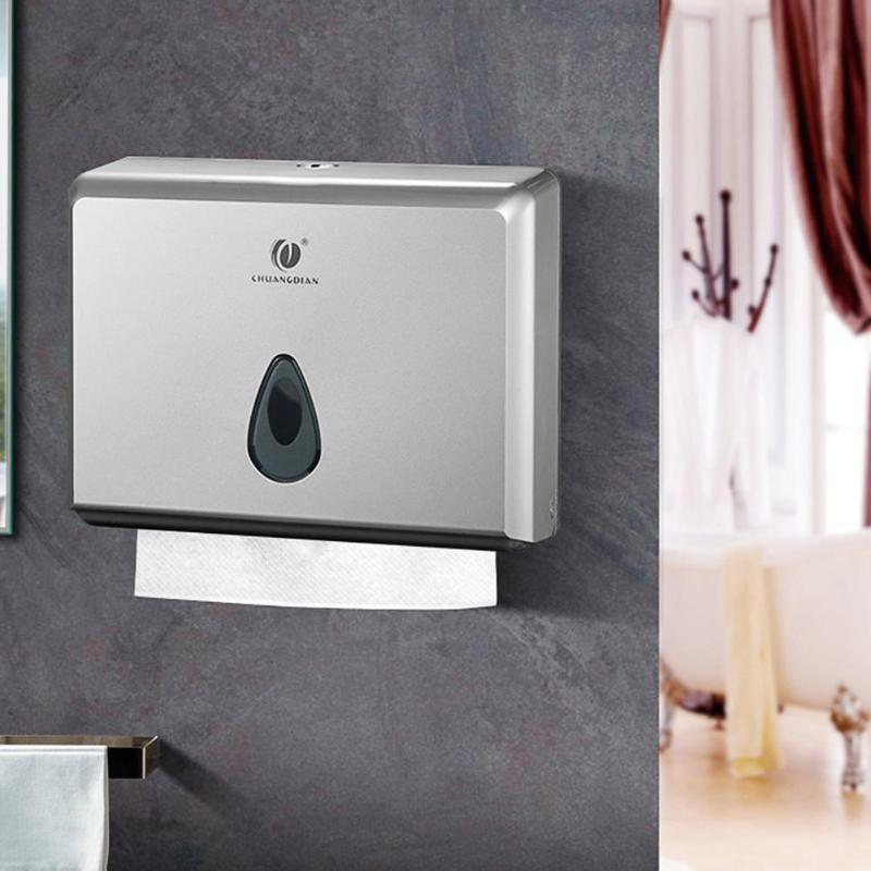 Multifunction Tissue Box Dispenser Bathroom Paper Towels Holder Roll Cover Box