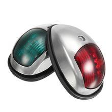 Pair 12V LED Navigation Lamp Marine Port Side & Starboard Light for Boat Chandlery / Boat / Yacht Stainless Steel 104*64*39 mm