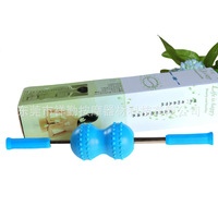 NEW Multi fonction Back Massager Comfortable Silica Gel Body Leg Back Neck Pain Relief Massage Roller Tool T0347SPC