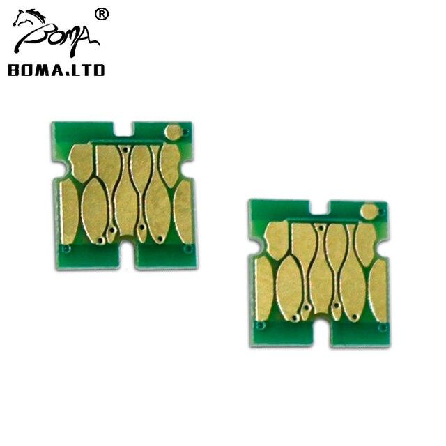 BOMA. LTD offre spéciale 10 pièce/lot T6193 Réservoir Dentretien Puces Pour Epson T3000 T5000 T7000 T3200 T5200 T7200 Cartouche Puce