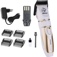 Electrical Pet Dog Trimmers Professional Hair Brush Clippers Rechargeable Cat Shavers Hair Cutter Haircut Machine Grooming Tool