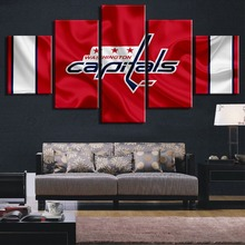 New 5 Panel Canvas Art Ice Hockey Sport Modern Decorative Paintings on Wall for Home Decorations Decor Artwork