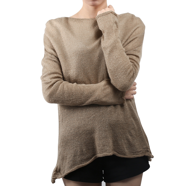 Korea Style Women Sweater Batwing Long Sleeve Knitted Pullover Casual Ladies  Solid Loose Baggy Jumper Tops Knitwear Pull Femme 8c5e17c80283