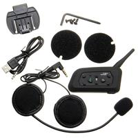 Motorcycle Helmet 1000M BT Interphone Bluetooth Intercom Headset Up To 6 Riders