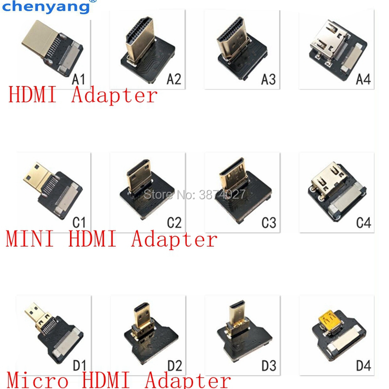 Plug-Connector Fpc-Ribbon Hdmi-Cable Flat 90-Degree-Adapter Micro-Hdmi Pitch FPV 20pin title=