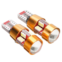 2Pcs T10 W5W 3014 27SMD LED 12V Car Canbus Error Free Width Light Lamp Bulb Super Bright White Bulbs