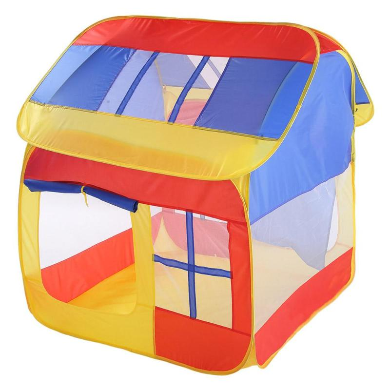 Child Camping Play Tent House Portable Kids Indoor Outdoor Playing House Toy Foldable Children Ocean Pit Pool Game Tents Toys