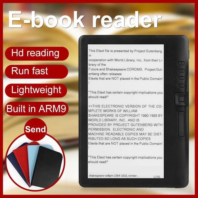 CLIATE 7 inch BK7019 Ebook reader thông minh với độ phân giải HD kỹ thuật số E-book + Video + MP3 âm nhạc máy nghe nhạc màn hình màu
