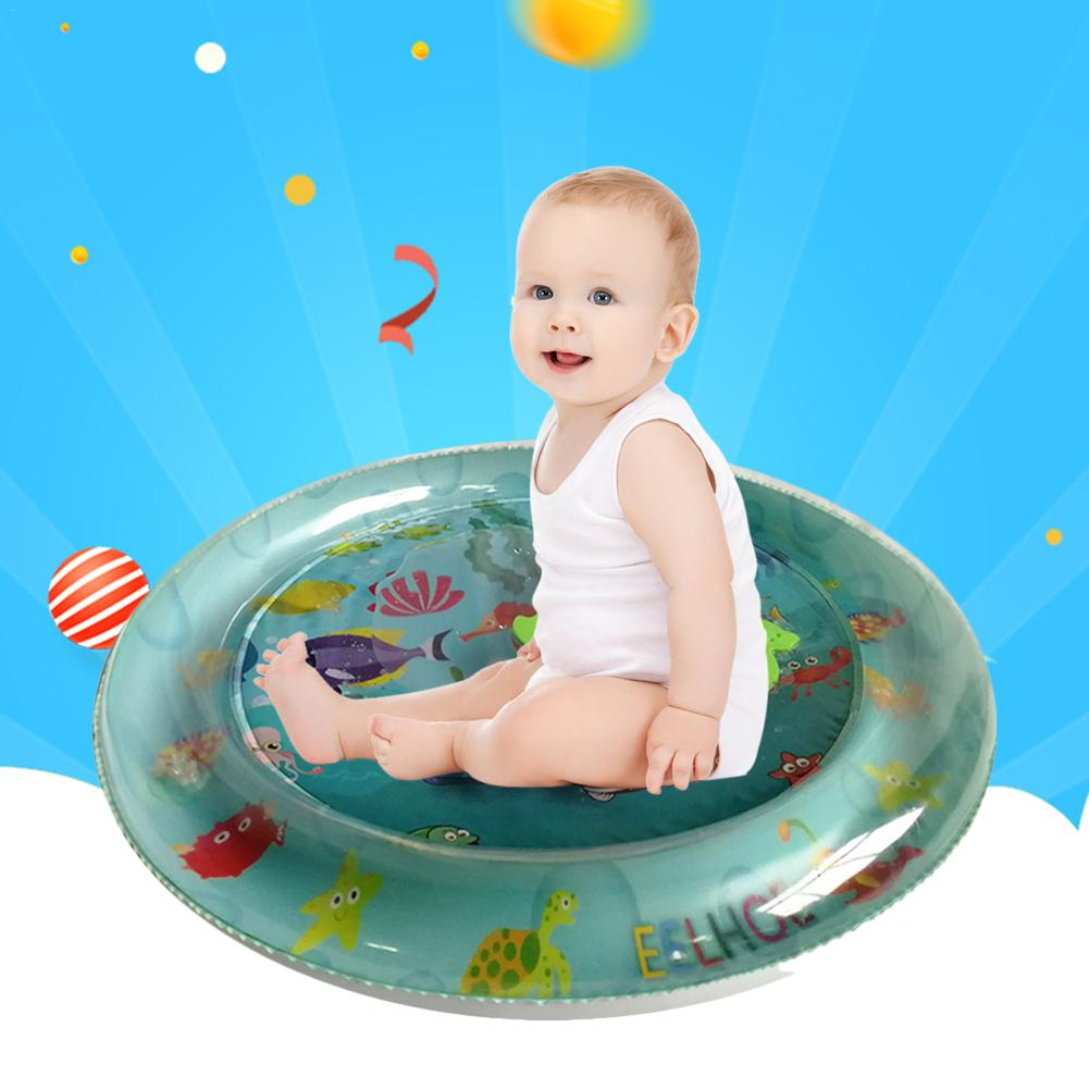 Inflatable Water Pad Toy Baby Patted Environmentally Friendly PVC Inflatable Prostrate Water Game Cushion Interactive Toy For Ch