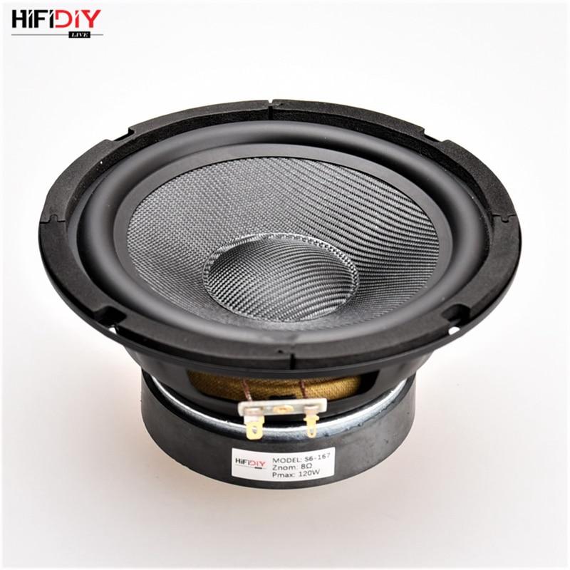 HIFIDIY LIVE HIFI speakers DIY 6 inch 6 5 Midbass Woofer speaker Unit 8 OHM 120W