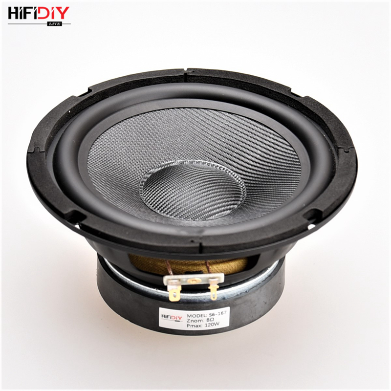 Portable Audio & Video Hifidiy Live Hifi Speakers Diy 6 Inch 6.5 Midbass Woofer Speaker Unit 8 Ohm 120w Glass Fiber Vibratory Basin Loudspeaker S6-167 Good For Energy And The Spleen