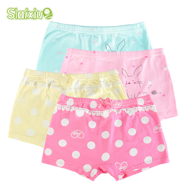 b132e2117 2 unids lote suave de algodón orgánico niños bragas adolescente Kwaii niñas  pantalones cortos bragas