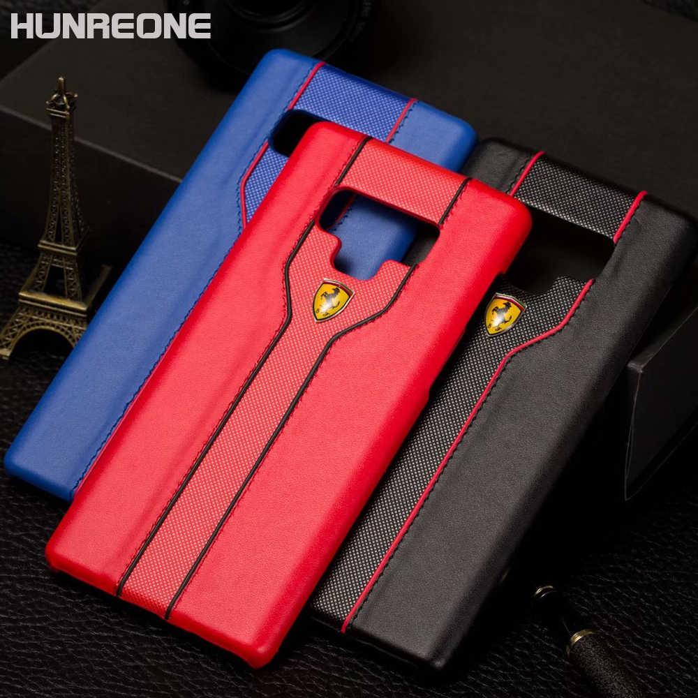 2bc2079b2 Hunreone Ferrari Logo PU Leather Cover Protection Case For Samsung S6 S6  Edge S7 S7 Edge
