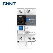 CHINT Disyuntor de fuga de tierra en miniatura, NB6LE 32 de protección contra sobrecarga, interruptor de aire doméstico de serie 1P + N, 16A 20A 25A 32A