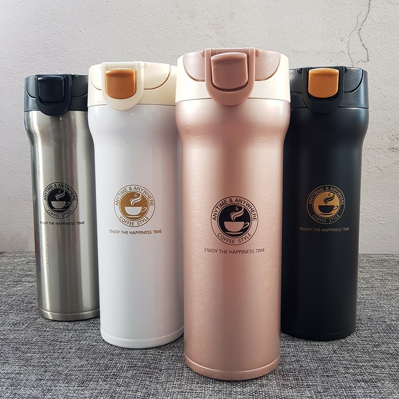 Hot Quality Double Wall Stainless Steel Vacuum Flasks 350ml 500ml Car Thermo Cup Coffee Tea Travel Mug Thermol Bottle Thermocup(China)