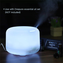 Diffuser Essential Oil Humidifier Waterless Auto Shut-Off 500ml Mist D25