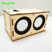 Happyxuan Kids DIY Science Discovery Toys Wood Bluetooth Speaker STEM Education Kit School Projects Physics Fun Experiment Gift