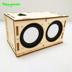 Happyxuan dla dzieci DIY nauka odkrycia drewna głośnik bluetooth macierzystych zestaw edukacyjny projekty szkolne fizyki zabawy eksperyment prezent na