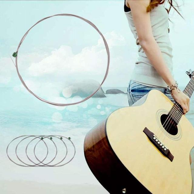 משושה פחמן פלדת גיטרה מיתרי 1-6 סדרת 009 כדי 042 אינץ אוניברסלי יחיד גיטרה מחרוזת לגיטרה חשמלית אבזרים
