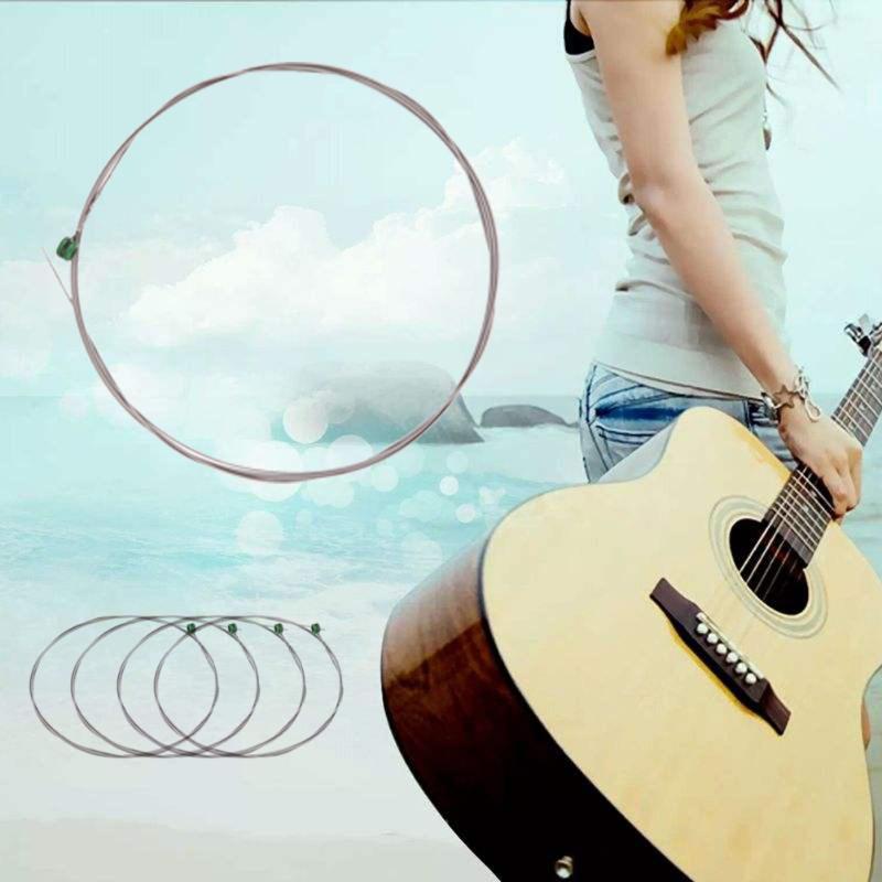 Шестиугольная углеродистая сталь гитарные струны 1-6 серия 009 до 042 дюймов универсальная одинарная гитарная струна для электрогитары аксесс...