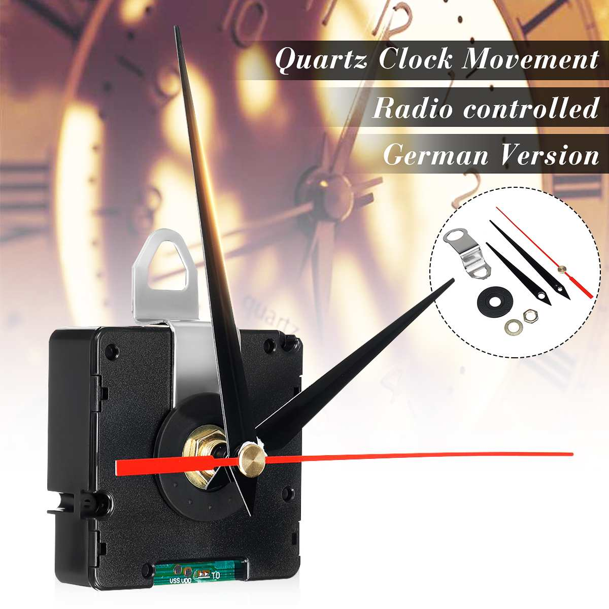 Atomic Radio Controlled Silent Clock Movement DIY Kit Germany DCF Signal HR9312 Mode