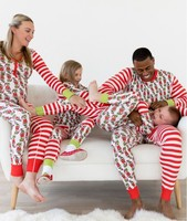 Uguest Christmas Family Matching Pajamas Set Mom Son Clothes Family Suit Tree Printed Parent Child Outfits Parent Child