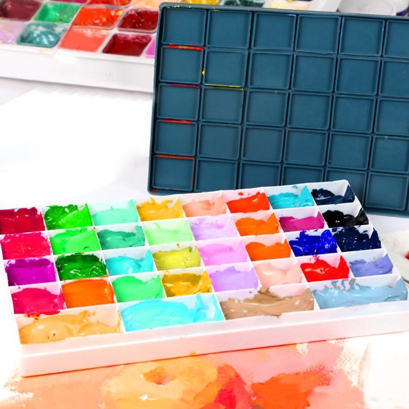Palette WaterColor Leaking Plastic Box Rubber Soft Cover Watercolor Gouache Acrylic Oily New Art Supplies Paint Pigment Palette