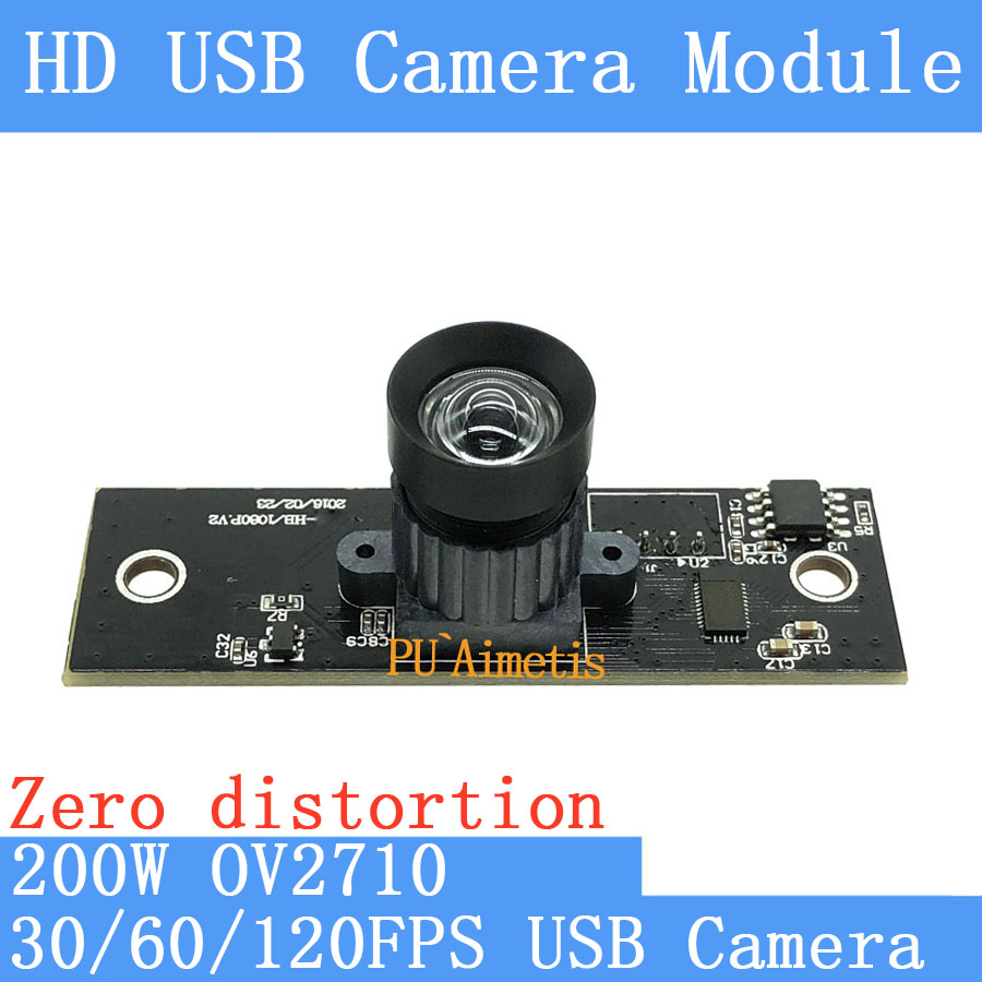 30FPS/60FPS/120FPS No distortion CCTV Surveillance camera HD 200W OV2710 1920*1080P Android Linux UVC MJPEG USB camera module