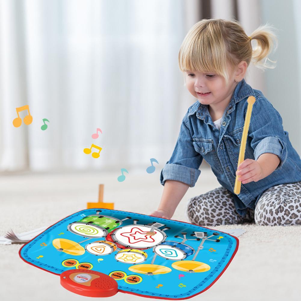 Couverture de musique de tambour pour enfants jouet éducation précoce Puzzle Jazz tambour cadeau maternelle bébé apprentissage jouet couverture offre spéciale