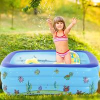 Children Bathing Tub Baby Home Use Paddling Pool Inflatable Square Swimming Pool Kids Inflatable Pool