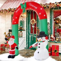 4 tipos de arco gigante de Santa Claus muñeco de nieve jardín inflable patio arco de Navidad ornamentos Navidad Año Nuevo Festival Fiesta accesorios Decoración