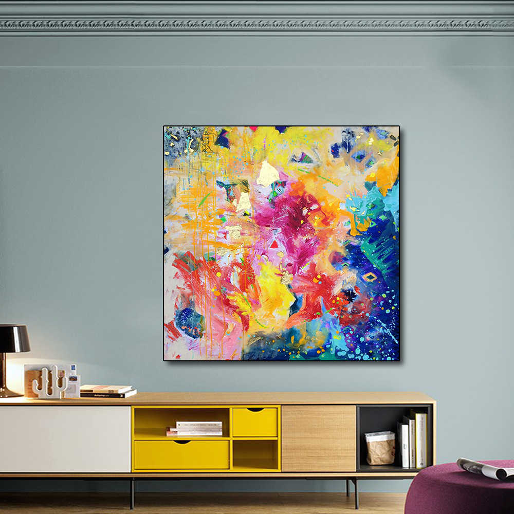 AAVV Posters and Prints Colorful Galaxy Home Decorative Art Picture Painting on Canvas Prints for Living Room No Frame