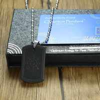 Energy Power Dog Tag Pendant Scalar Quantum Necklace Bio Science Balance EMF Protection for Men Jewelry 2000 ~ 3000 Ions 25.5 in