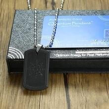 Energy Power identyfikator dla psa skalarny Quantum naszyjnik Bio Science Balance ochrona EMF dla mężczyzn biżuteria 2000 ~ 3000 jonów 25.5 in