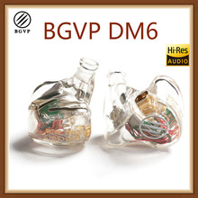BGVP DM6 5BA Driver In Ear 5 Balanced Armature Earphone MMCX Audiophile HiFi Monitor Earphone DIY Customized Version Provided nicehck hc5 5ba drive in ear earphone 5 balanced armature hifi resin earphone with detachable detach mmcx cable hifi earphone