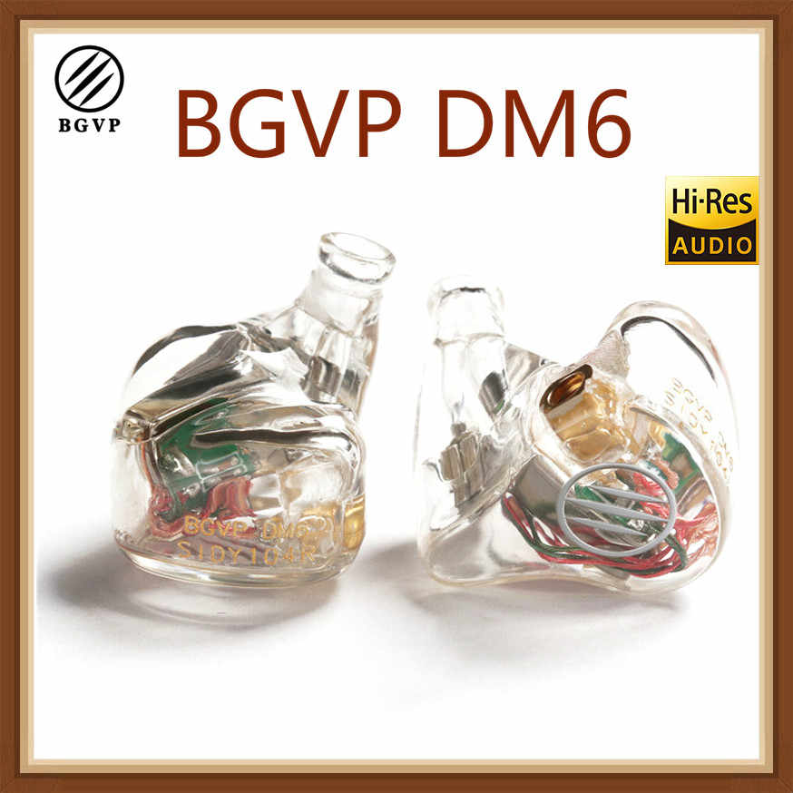 BGVP DM6 5BA kierowcy w ucho 5 wyważone armatura słuchawki MMCX Audiophile HiFi monitora słuchawki DIY dostosowane wersja pod warunkiem