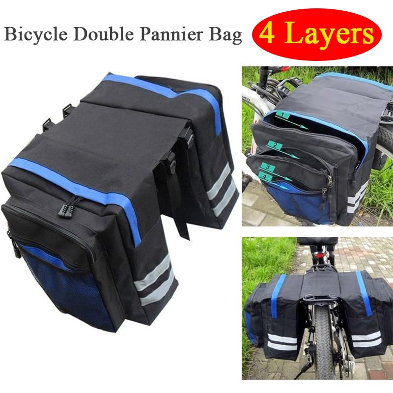 Multi-functional Bicycle Bag Pannier Mountain Bike Waterproof Cycling Rear Seat Bag Bicycle Trunk Shoulder Handbag