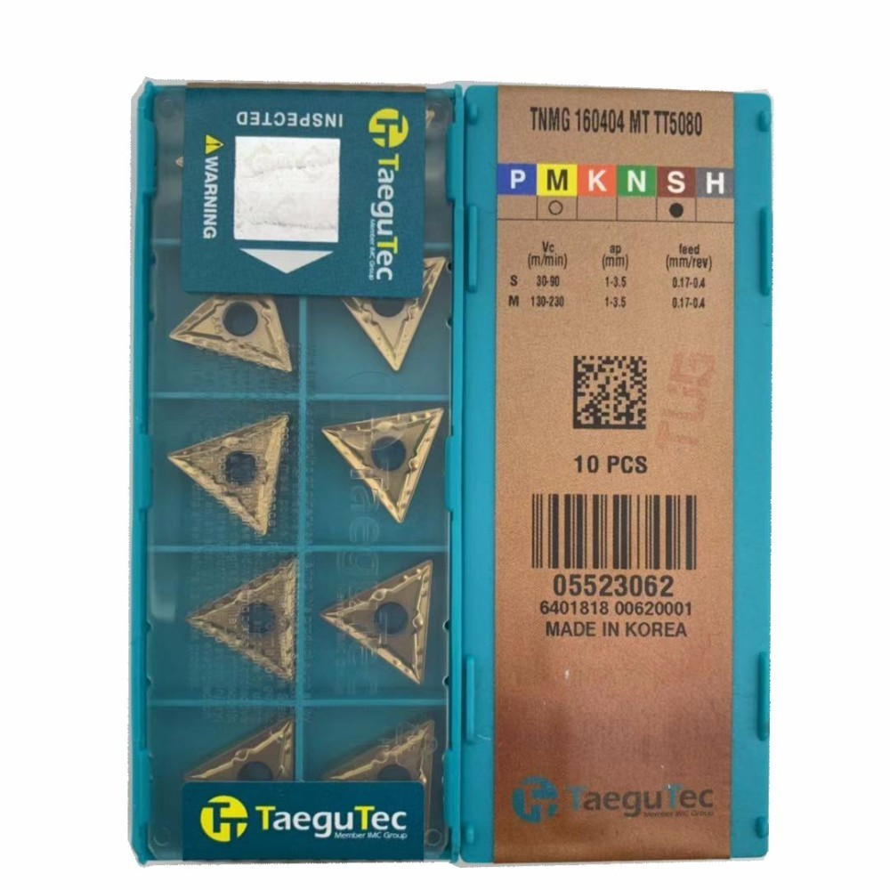 TNMG160404 MT TT5080 TNMG160408 MT TT5080 original taegutec carbide insert for turning tool holder boring bar
