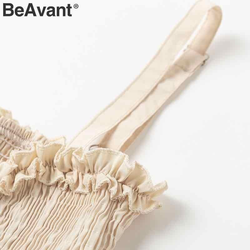 BeAvant элегантный, на бретельках длинное платье женское черное плюс размер пояса оборки дамы платья Повседневный праздничный пляжный платье festa