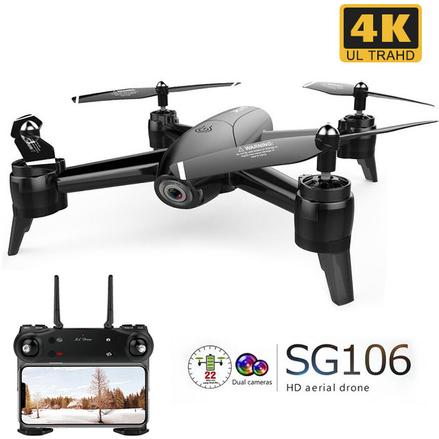 SG106 RC Drone Optical Flow 1080P 720P 4K HD Dual Camera Real Time Aerial Video RC Quadcopter Aircraft Positioning RTF Toys Kid