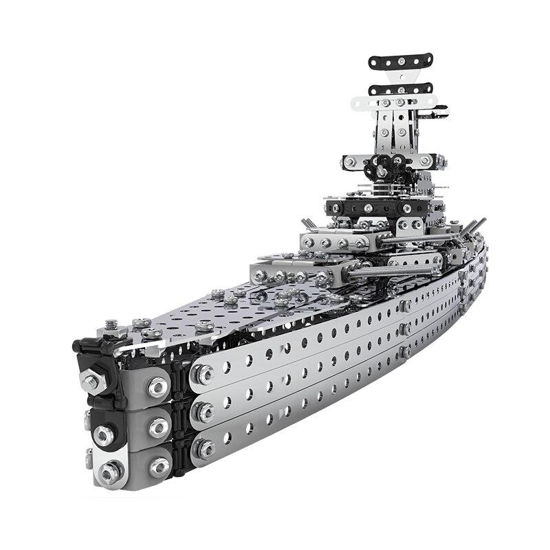 Cruiser acier inoxydable assemblé modèle bloc de construction brique armée militaire navire modèle bataille guerre navire marine bateau bateau jouet