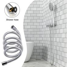 PVC High Pressure Shower Pipe Silver Color Smooth Shower Hose For Bath Handheld Shower Head Flexible Plumbing Hose Drropshipping