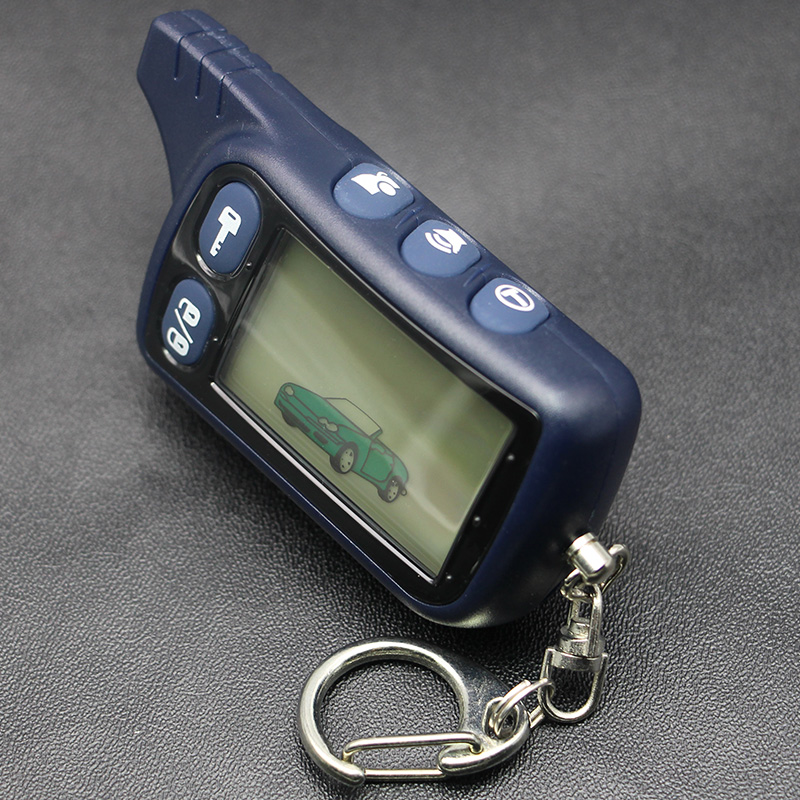 TZ 9010 LCD Remote Control Key Fob For Russian 2-Way Car Alarm Keychain Tomahawk TZ9010