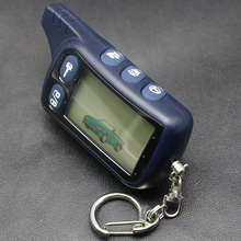 TZ 9010 LCD Remote Control Key Fob For Russian 2-Way Car Alarm