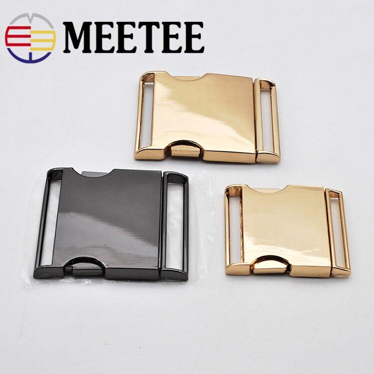 2pc Meetee Metal Buckles 40/50mm Quick Side Release Buckle Dog Collar Webbing Belt Clip DIYLeathercraft Garment Bags Accessories