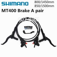 2019 nuevo SHIMANO MT400 M446 M447 Freno de bicicleta de montaña freno de disco hidraulico MTB izquierda y derecha 800/850. 1450/1500mm frenos M445 MT200